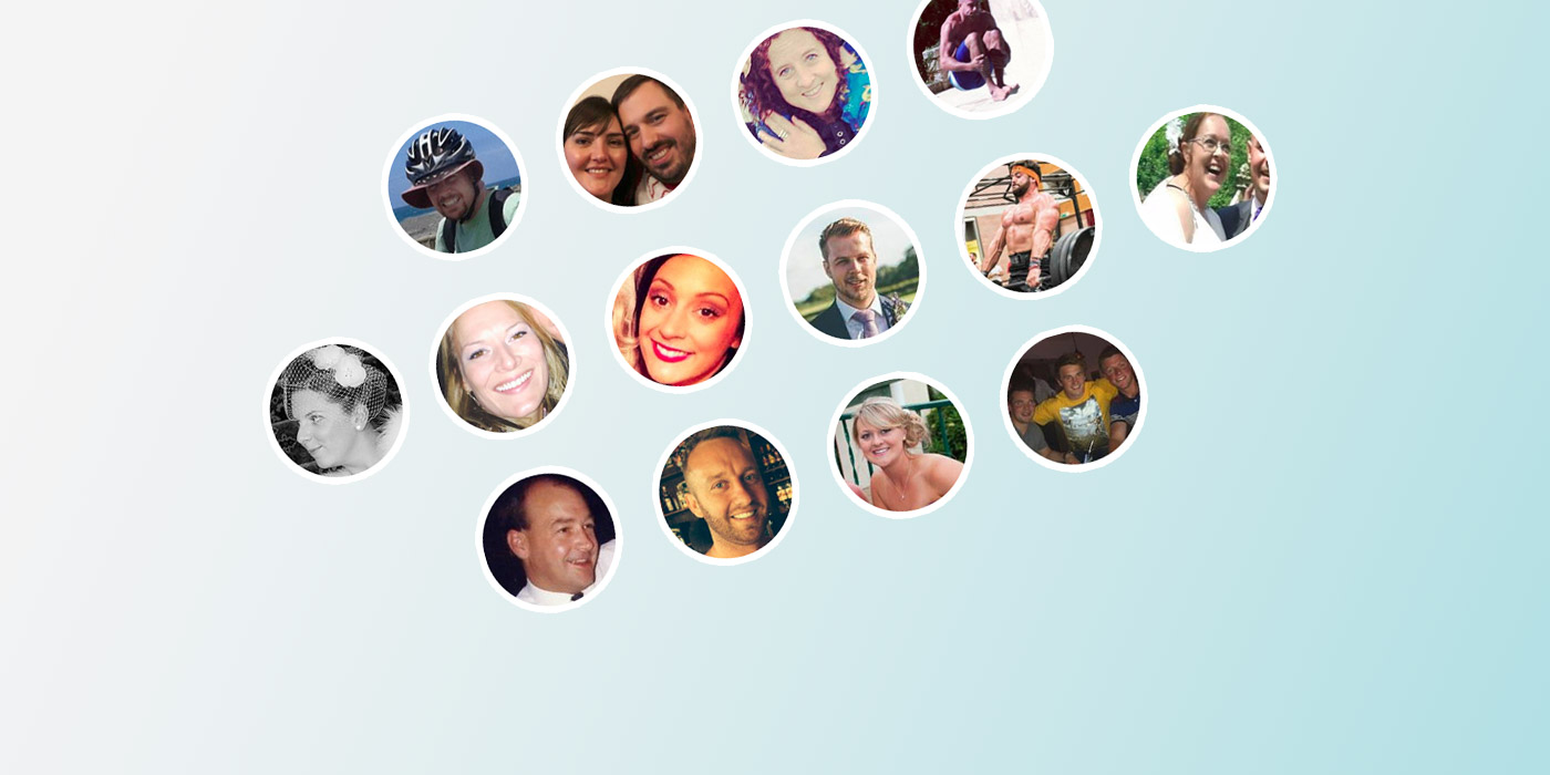 Collage of testimonials profile images
