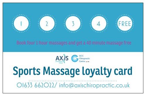 Sports Massage Loyalty Card