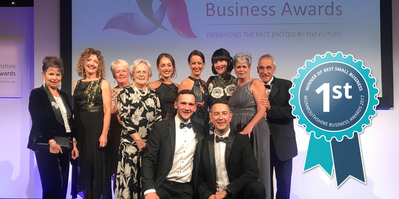 Group Photo of Axis Chiropractic winning Best Small Business 2017 in the Monmouthshire Business Awards